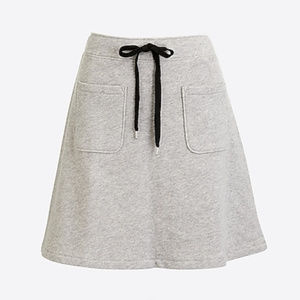 J. Crew Cotton Terry Drawstring Skirt